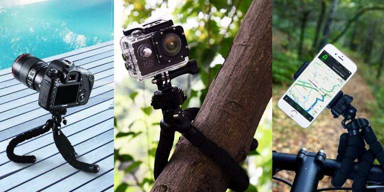 Treppiede flessibile Mpow per fotocamera e smartphone